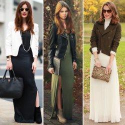 картинки с чем носить длинные платья